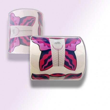 Формы для наращивания 500 шт / Global Fashion / Pink
