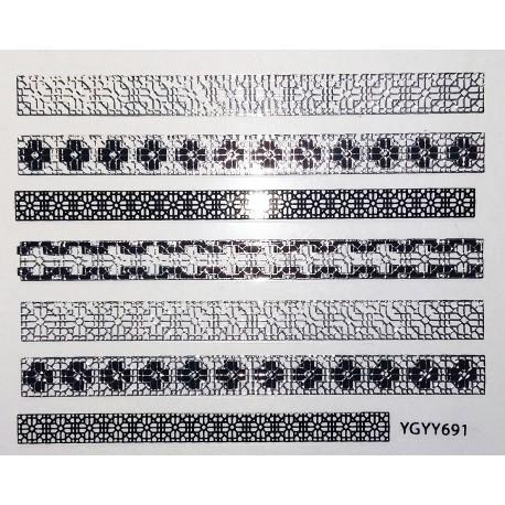 Набор - наклейки самоклеящиеся, 12 штук