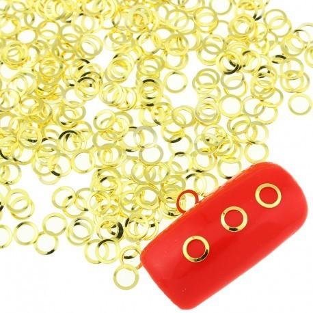 Оправа для страз, жидких камней, золото 25 штук