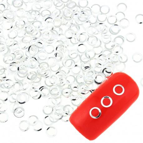 Оправа для страз, жидких камней, серебро 25 штук