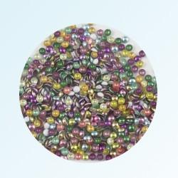 Металлические кнопки для ногтей, микс 4 цвета, 100 шт.