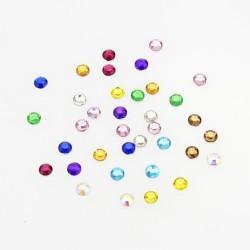 Стразы NailArt для ногтей, микс 12 цветов, 24шт