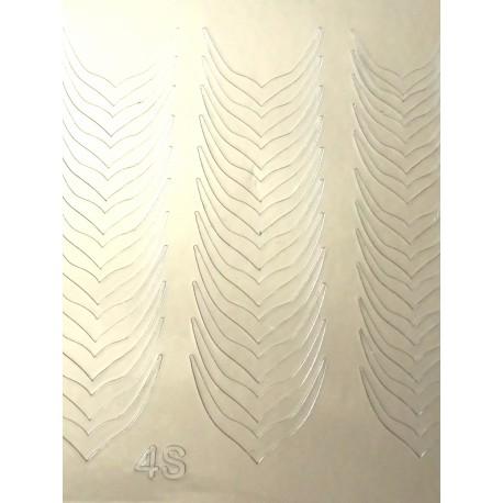 Металлизированные наклейки для ногтей S4
