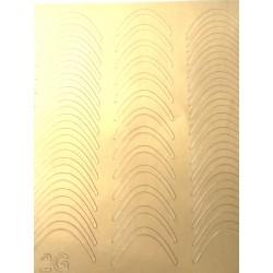 Металлизированные наклейки для ногтей Z2