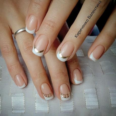 Металлизированные наклейки для ногтей S2