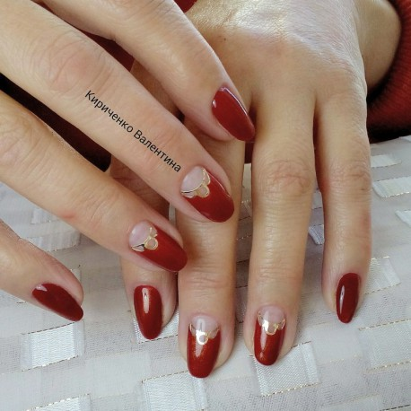 Металлизированные наклейки для ногтей S5