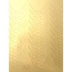 Металлизированные наклейки для ногтей Z6