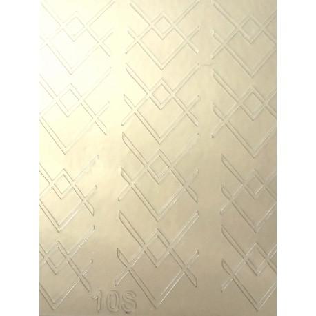Металлизированные наклейки для ногтей S10