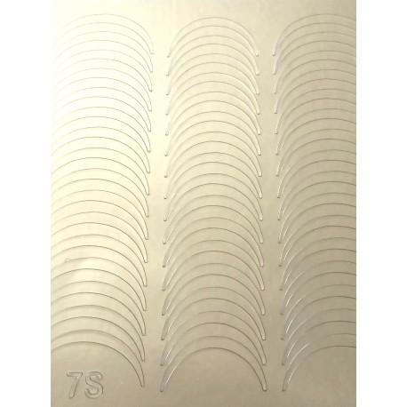 Металлизированные наклейки для ногтей S7