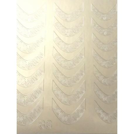 Металлизированные наклейки для ногтей S12