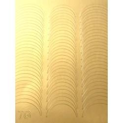Металлизированные наклейки для ногтей Z7