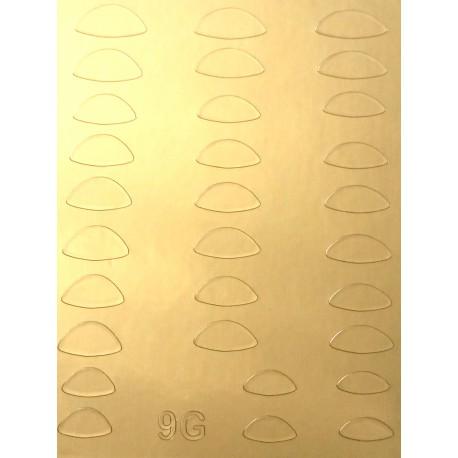 Металлизированные наклейки для ногтей S9