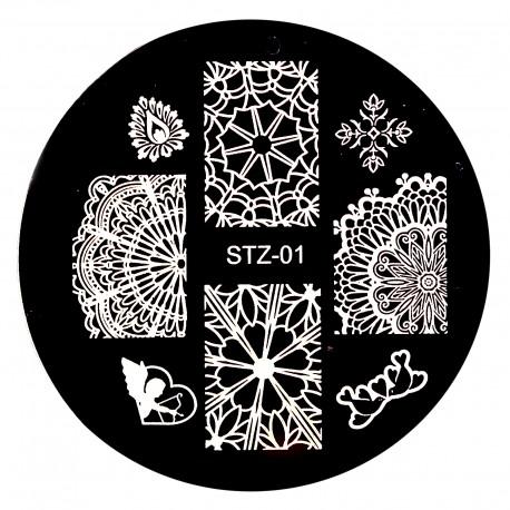Стемпинг диск для ногтей, m74