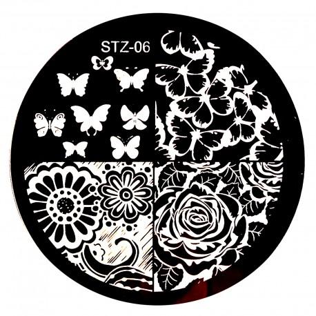 Стемпинг диск для ногтей, STZ03