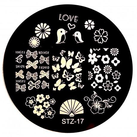 Стемпинг диск для ногтей, STZ12