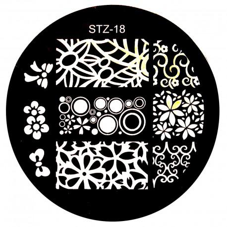 Стемпинг диск для ногтей, STZ17