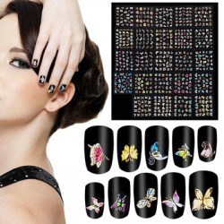 Набор наклеек, 8 листов, для дизайна ногтей с эффектом литья, бабочки