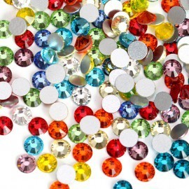 Стразы для ногтей, Crystal Clear, микс цветов SS3, 100шт