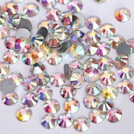 Стразы для ногтей, Crystal АВ, SS3, 100шт