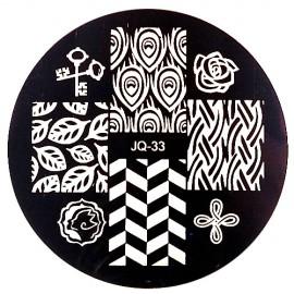 Стемпинг диск для ногтей, JQ33