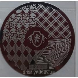 Стемпинг диск для ногтей, hehe026