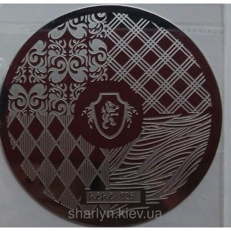 Стемпинг диск для ногтей, hehe021