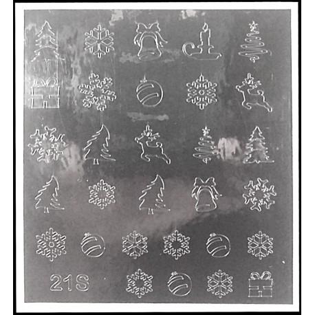 Металлизированные наклейки для ногтей S21
