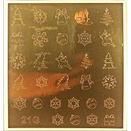 Металлизированные наклейки для ногтей Z21