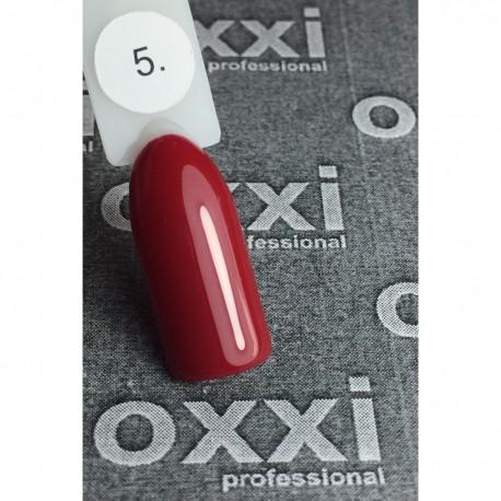 Гель - лак Oxxi №05 (темно-красный, эмаль)