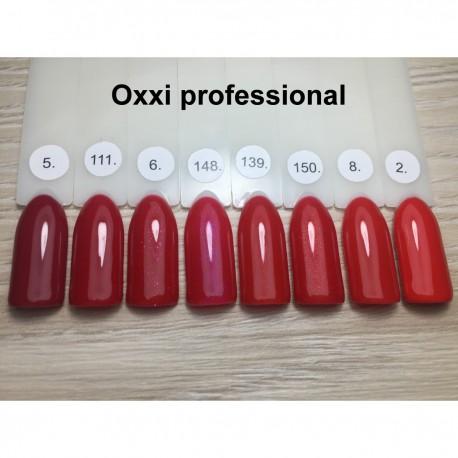 Гель - лак Oxxi №06 (темно-красный с микроблеском)