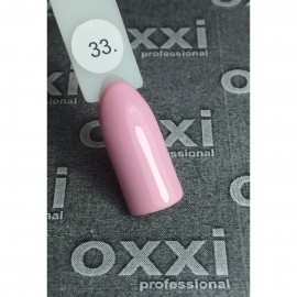 Гель - лак Oxxi №33 (нежно-розовый, эмаль)