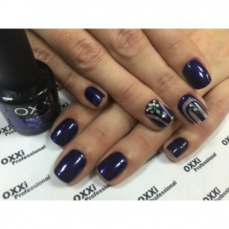 Гель - лак Oxxi №53 (темно-фиолетовый с голубым микроблеском)