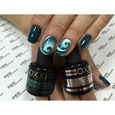 Гель - лак Oxxi №59 (зеленый бутылочный, эмаль)
