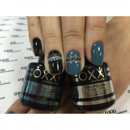 Гель - лак Oxxi №62 (синий с серым оттенком, эмаль)