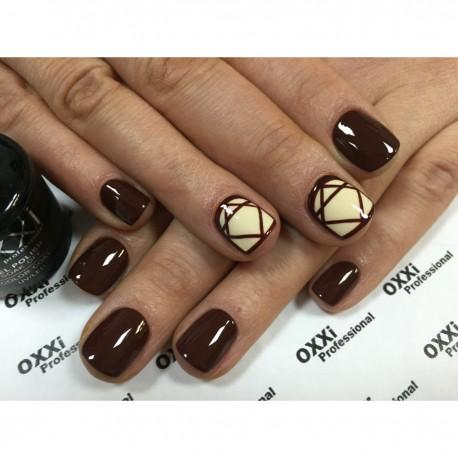 Гель - лак Oxxi №83 (красно-коричневый, эмаль)