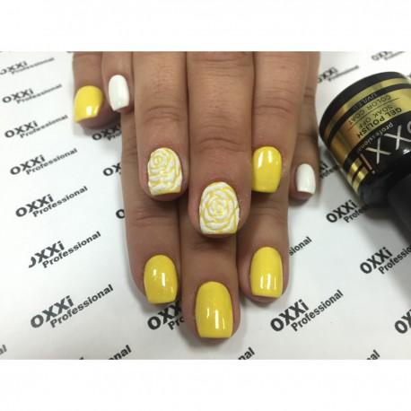 Гель - лак Oxxi №93 (желтый с еле заметными блестками)