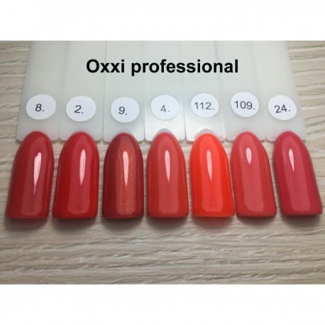 Гель - лак Oxxi №109 (светлый красно-коралловый, эмаль)