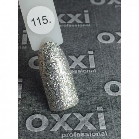Гель - лак Oxxi №115 (серебро с голографическими блестками)