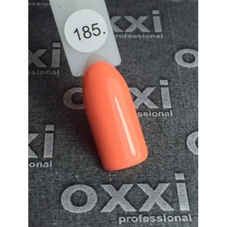 Гель - лак Oxxi №185 (яркий, оранжевый, неон)