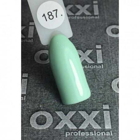 Гель - лак Oxxi №187 (нежно-зеленый, пастель)