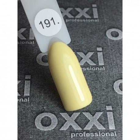 Гель - лак Oxxi №191 (светло-лимонный, пастель)