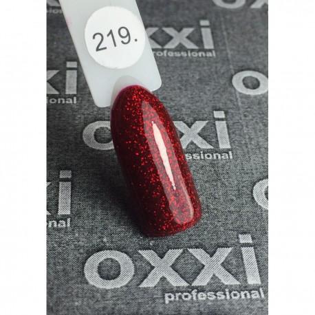 Гель - лак Oxxi №204 (темно-красный, микроблеск)
