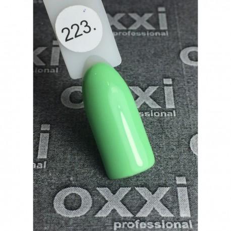 Гель - лак Oxxi №223 (светло-зеленый, эмаль)