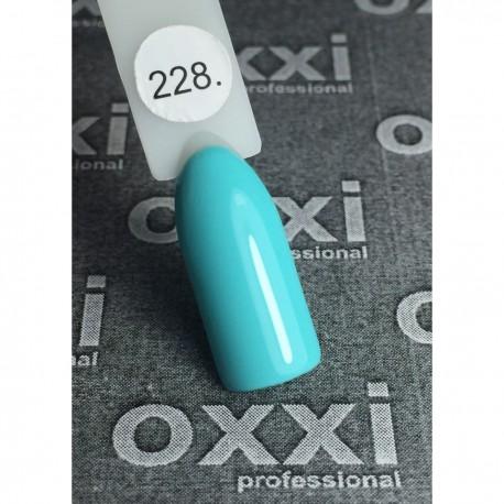 Гель - лак Oxxi №228 (малахитовый, эмаль)