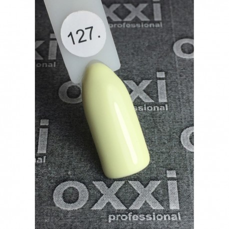 Гель - лак Oxxi №127 (светло-лимонный, эмаль)