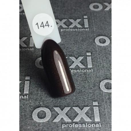 Гель - лак Oxxi №144 (темно-коричневый, шиммер)