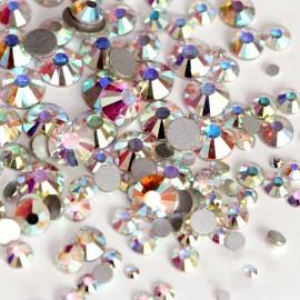 Стразы Crystal АВ, микс размеров, 100 шт.