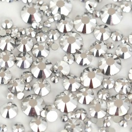 Стразы Crystal Clear, микс размеров, 100 шт.