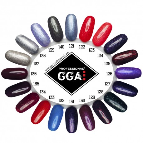 Стартовый набор для покрытия ногтей гель-лаком GGA Professional УФ лампа 36 ватт мини