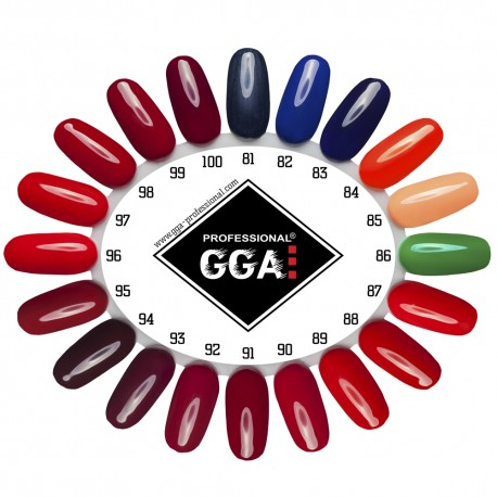 Набор для покрытия ногтей гель лаком GGA Professional с LED лампой 24Ватт